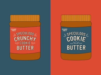 Speculoos Cookie Butter graphic trader joes cookie butter design simplistic illustration