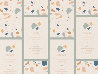 Proper Business Card minimal graphic simple business card pattern terrazzo