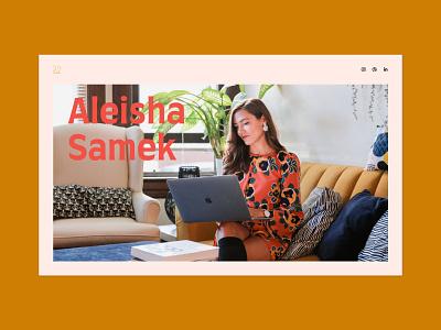 Portfolio Site design ui branding minimal graphic simplistic website webdesign portfolio