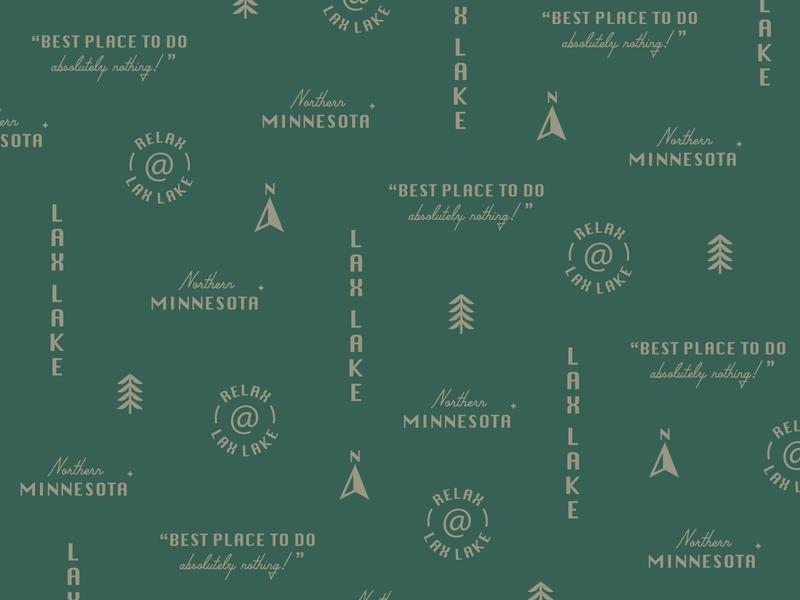 Lax Lake Pattern type pattern design minnesota lake graphic logo typography simplistic illustration