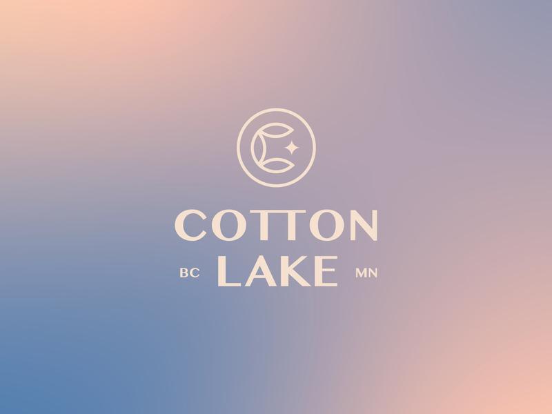 Cotton Lake gradient cotton minnesota lake minimal graphic logo typography simplistic