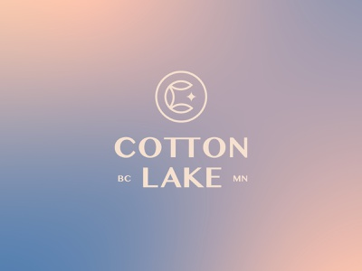 Cotton Lake gradient cotton minnesota lake minimal graphic logo typography simplistic