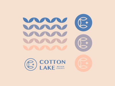 Cotton Lake Patterns pattern gradient cotton minnesota lake minimal graphic logo illustration typography