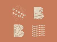 Birch Lake pattern tree birch minnesota lake minimal logo simplistic illustration typography
