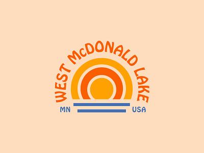 West McDonald Lake design type minnesota lake minimal graphic logo illustration typography