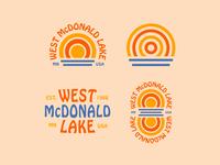 Additional West McDonald Lake Logos simple minnesota minimal lake logo graphic simplistic illustration typography
