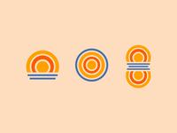 West McDonald Lake Icons branding minnesota lake minimal graphic simplistic icons