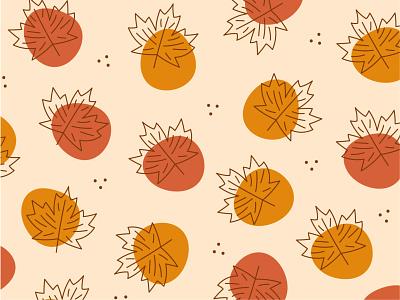Maple Lake Pattern maple leaf fall maple minnesota design illustration pattern