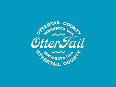 Otter Tail Lake typedesign minnesota minimal lake graphic logo