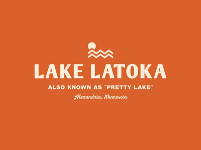 Lake Latoka branding latoka minnesota lake logo simplistic illustration typography