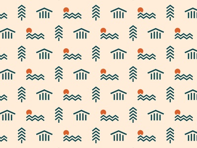 Lake Latoka Pattern branding minnesota minimal graphic simplistic illustration pattern