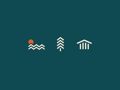 Lake Latoka Icons branding graphic lake minnesota minimal simplistic illustration icons