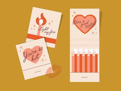 Valentine Matchbook pt. 2 graphic design typography simplistic illustration matches matchbook valentines day valentine