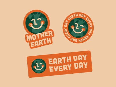 Earth Day design simple type graphic funky illustration earth day earthday earth