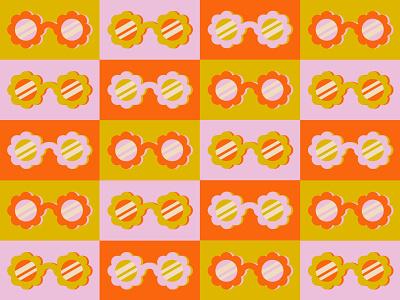Flower sunnies 😎🌻 pattern graphic design bright flower sunglasses simplistic illustration