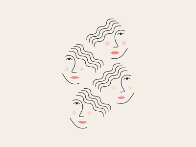 Better Together women in illustration women empowerment vector simple women minimal simplistic illustration
