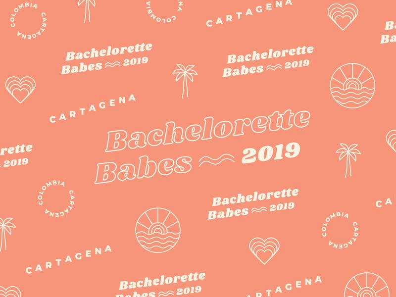 Bachelorette Babes colombia cartagena bachelorette simple type minimal graphic logo simplistic typography illustration