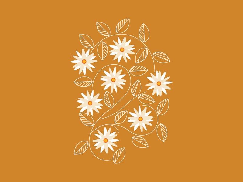 Spring Fever spring flowers daisy florals simple minimal simplistic illustration