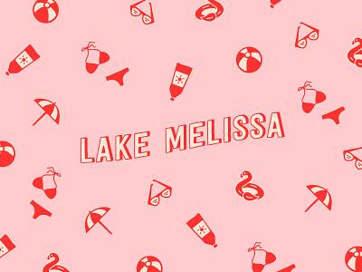Lake Melissa graphic design minnesota lake minimal logo simplistic typography illustration