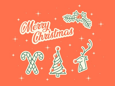 Christmas Gift Tags reindeer christmas tree tags christmas simplistic typography illustration