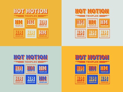 Temples Variations album funky groovy type hot motion temples simplistic typography