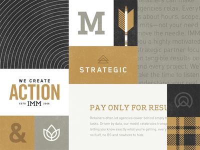 Rebrand elements exploration identitiy illustration mark logo brand icons colorado boulder process imm mood board gold arrow type texture