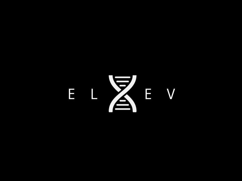 Elev8 V2 lettering typography print minimal layout design illustration app flyer flat web ux ui branding