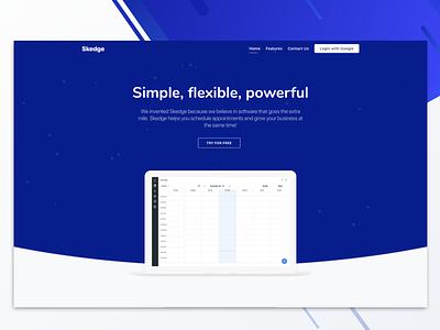 Booking Software Platform Project website minimal app web ux ui layout illustration design