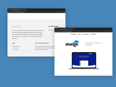 Portfolio Project Concept flat minimal branding web ui ux logo website layout illustration design