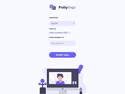 Video Conference Language Translation App vector flat website app minimal web ux ui illustration design