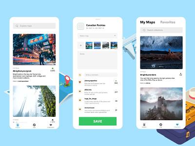 Exploreit prototype ux ui swift ios website app minimal web layout illustration design