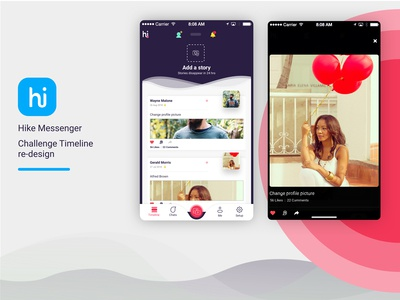 Hike Messenger: Timeline Redesign