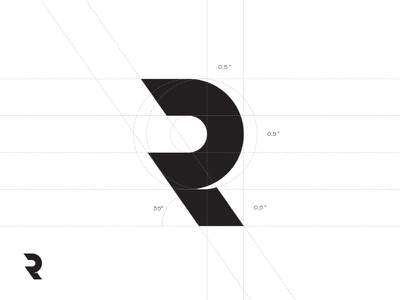 Just an R. bobby modern simple guidelines logo