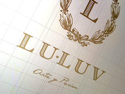 Lu-Luv Handbags Logo gold high end logo