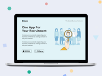 recruitment app landing page
