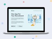 recruitment app landing page