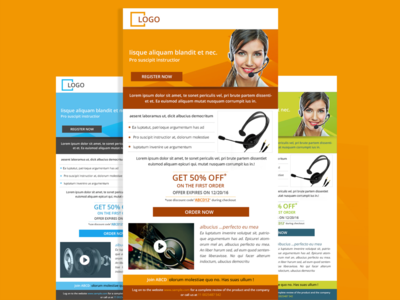 mailer template design