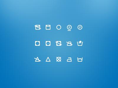 Washing Icons - Free icon set icon icons psd flat free washing freebie set