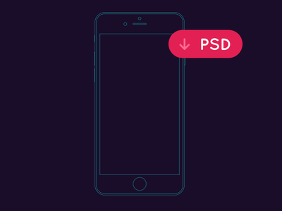iPhone outline Mockup ios iphone 6 mockup wireframe free psd outline illustrator ai