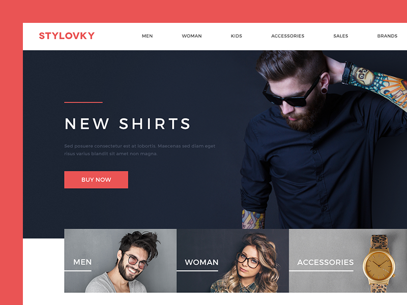 Stylovky redesign shop store czech ecommerce fashion flat homepage clean