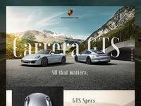 Porsche GTS microsite (WIP)