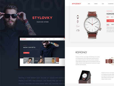Stylovky on Behance store fashion website minimal hipster watch webdesign shop eshop
