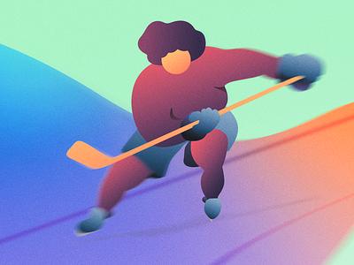 Hockey player adobe photoshop adobe illustrator sports gradient hockey illustration