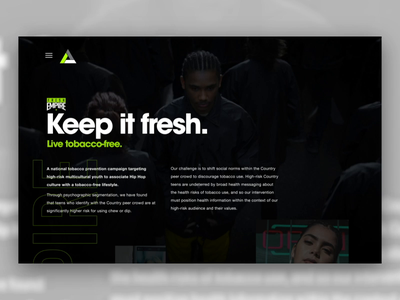 Rescue - Case Studies ae after effects ux xd tobacco-free our work case studies case study fda this free life fresh empire rescue agency rescue interface web ui adobe xd