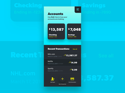 Accounts mobile cards card banking app dashboard user ux banking xd gradient web interface adobe photoshop ui adobe xd