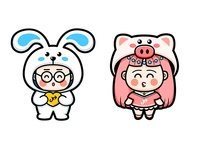 rabbit and pig