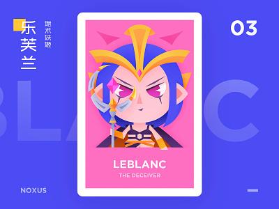 LEBLANC design typography graphic lol illustration