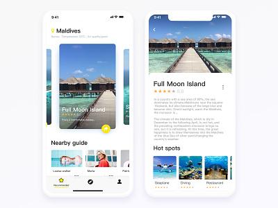 Surrounding tour recommended app maldives line free tourism app card ui