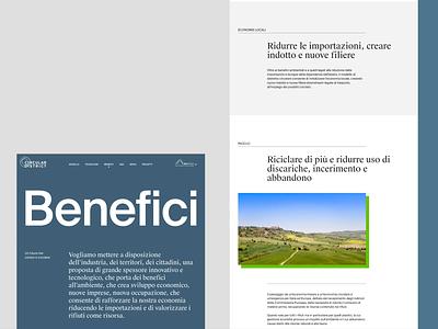 Green Circular District   Benefici web typography suisse typo motion design motion motion graphics illustration web design visual identity visual design ux ui design