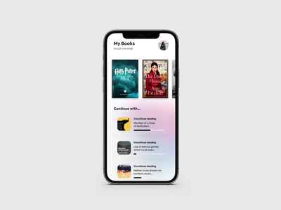 Books animation library pages swipe flip pageflip books boook simple cover white ui light interface design clean app